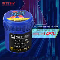 Mecánico para IPHONE X/XS/XR/Xs pasta de soldadura especial máxima 148 grados pasta de estaño sin plomo lechada de estaño de baja temperatura