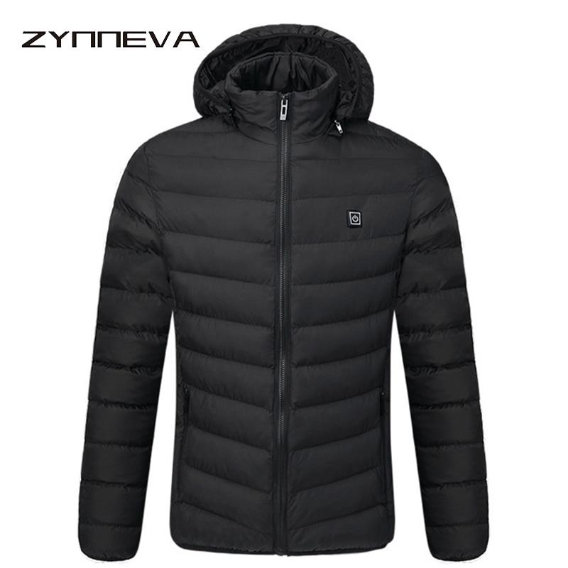 ZYNNEVA открытый Электрический нагревательный куртки Для мужчин Для женщин перо вниз хлопок с подогревом зимние пальто Термальность теплый с ...