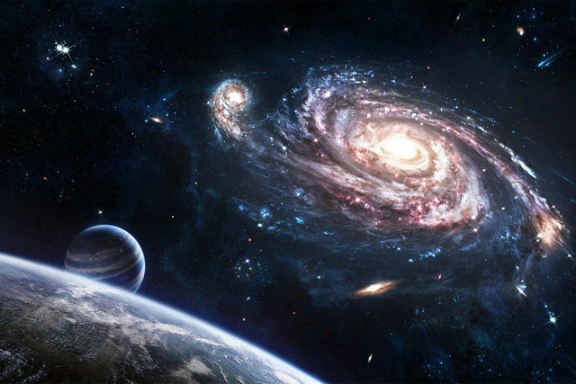 Space Planet Universe Silk Wall Landscape Poster Hd Big