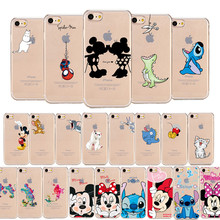 Cartoon Silicone Phone Case For iPhone 7 8 Plus XS MAX XR Cute Soft Mickey Minnie Cover For iPhone X 6 6S Plus 5 SE Coque Fundas(China)