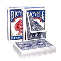 1 Deck Bicycle Double Red Or Double Blue Back Playing Cards Gaff Magic Cards Special Props