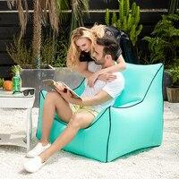 Chaise longue gonflable de sac d'haricot  sofa de pouf de jardin de chaise de plage d'aire de livraison directe imperméable  mobilier d'intérieur et extérieur de zac de siège