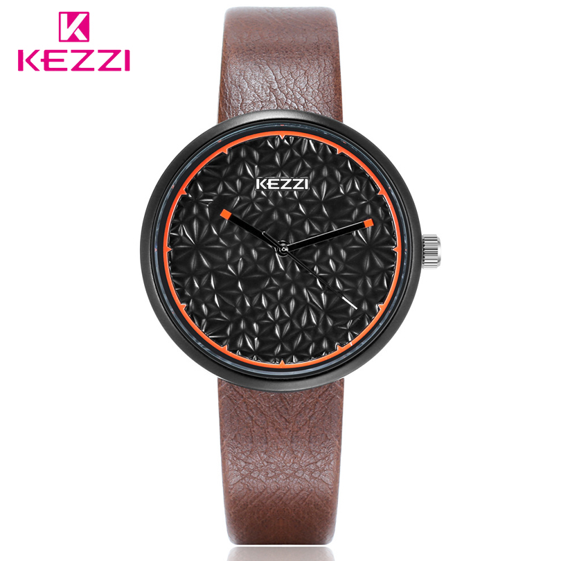 KEZZI Brand Personalized Dial Ladies Watches Women Elegant Fashion Quartz Watch Leather Wristwatches For Student Montre Femme kezzi brand women dress watches 3atm waterproof leather strap fashion quartz watch student wristwatches ladies hours 2016 new