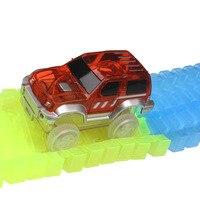 160pcs Track Piece+1pcs Lift+3 Pier+1 Corssroad+1LED Car DIY Stunt Track Car Variety Rail Car Track Model Suit Train Change Lane