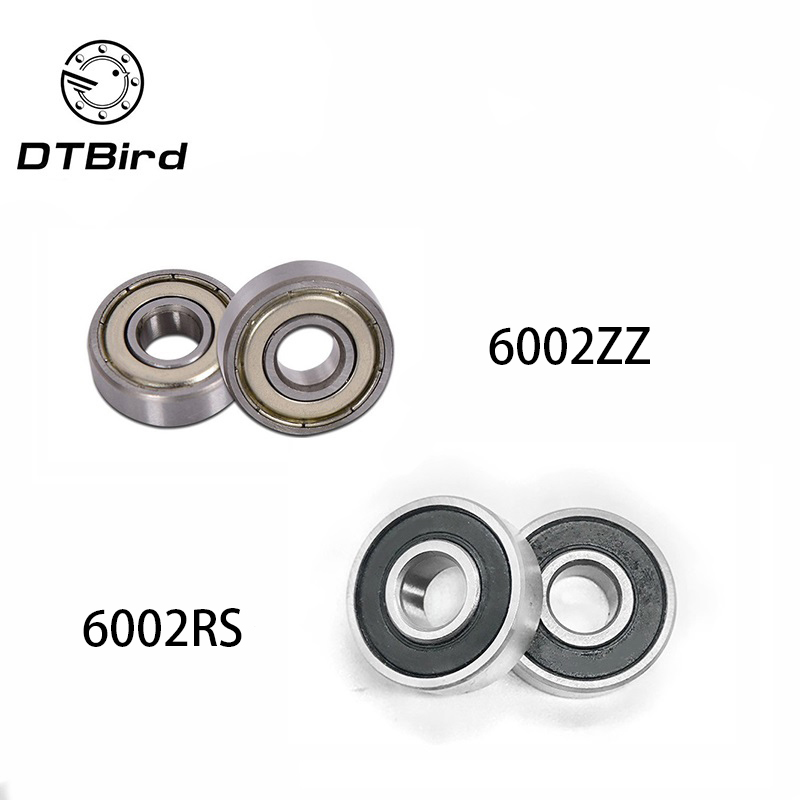 1pc Thin-Section Rubber Shielded Bearing Deep Groove Ball 6002-ZZ 15*32*9mm
