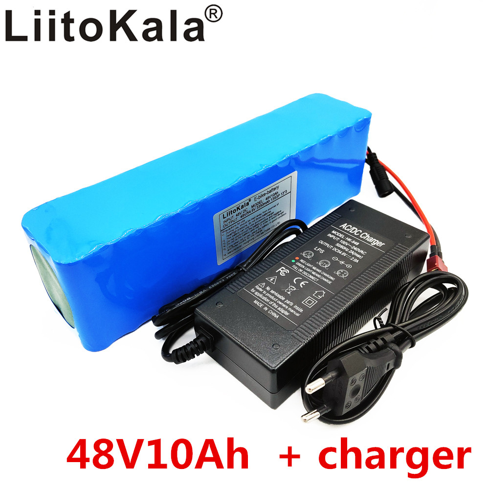 LiitoKala e-bike batterie 48 v 10ah li ion batterie kit de conversion de vélo bafang 1000 w et chargeur