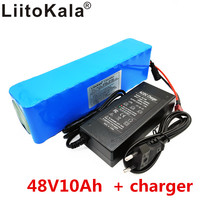 LiitoKala e bike battery 48v 10ah li ion battery pack bike conversion kit bafang 1000w and charger
