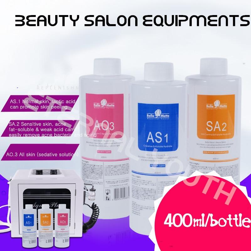 Aqua пилинг решение красивые голоса AS1 + SA2 + AO3 Hydra дермабразия 400 мл/бутылки