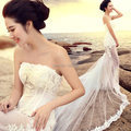 Fotografia de casamento 2016 mulheres vestido de renda fishtail personalizável Fotografia vestido Plus Size Vestidos de Celebridades