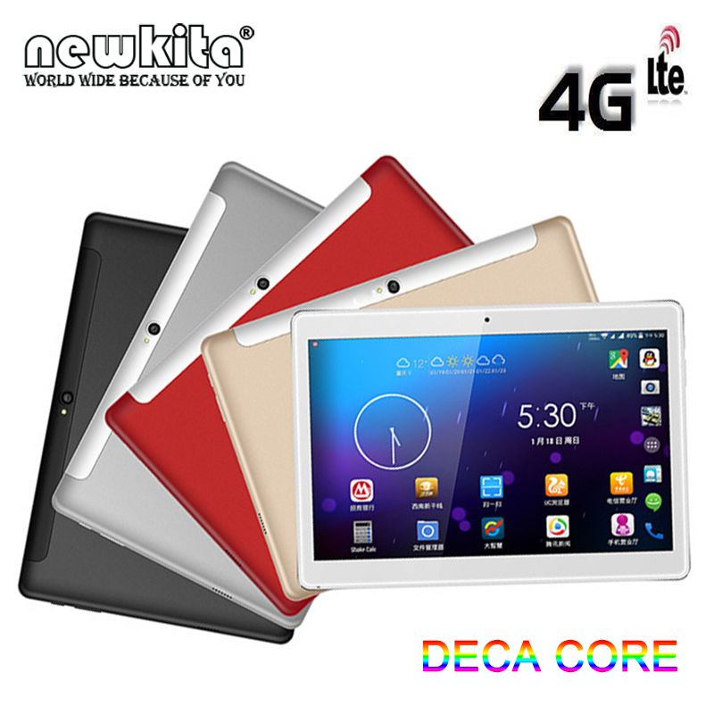 10.1 pouces MT6797 Deca Core tablette PC Android 7.0 P + G 1920*1200 IPS écran 128GB Rom double bande 5G WiFi GPS 3G 4G LTE 10 Core
