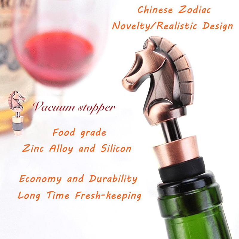 Wine Stoppers Chinese Zodiac Zinc Alloy Bar Tools Bottle Reusable Wine Plug Cap Wine Beverage Bottle Saver Stopper Cork Gift in Wine Stoppers from Home Garden