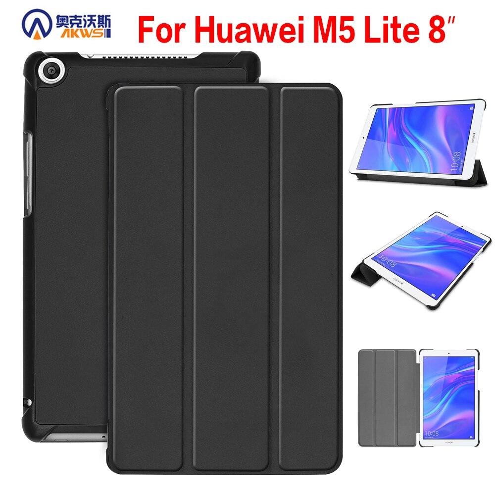 Folding Slim Case For Huawei Mediapad M5 Lite 8.0 JDN2-W09 JDN2-AL00 Tablet Case For Huawei Mediapad M5 Lite 8 Inch Cover +pen