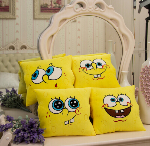 Image 3 - 1pcs 34*34cm Cartoon Sponge Bob Plush toys Soft Spongebob Pillow Cushion  Four models Can be Selected  Kids Toys-in Stuffed & Plush Animals from Toys & Hobbies