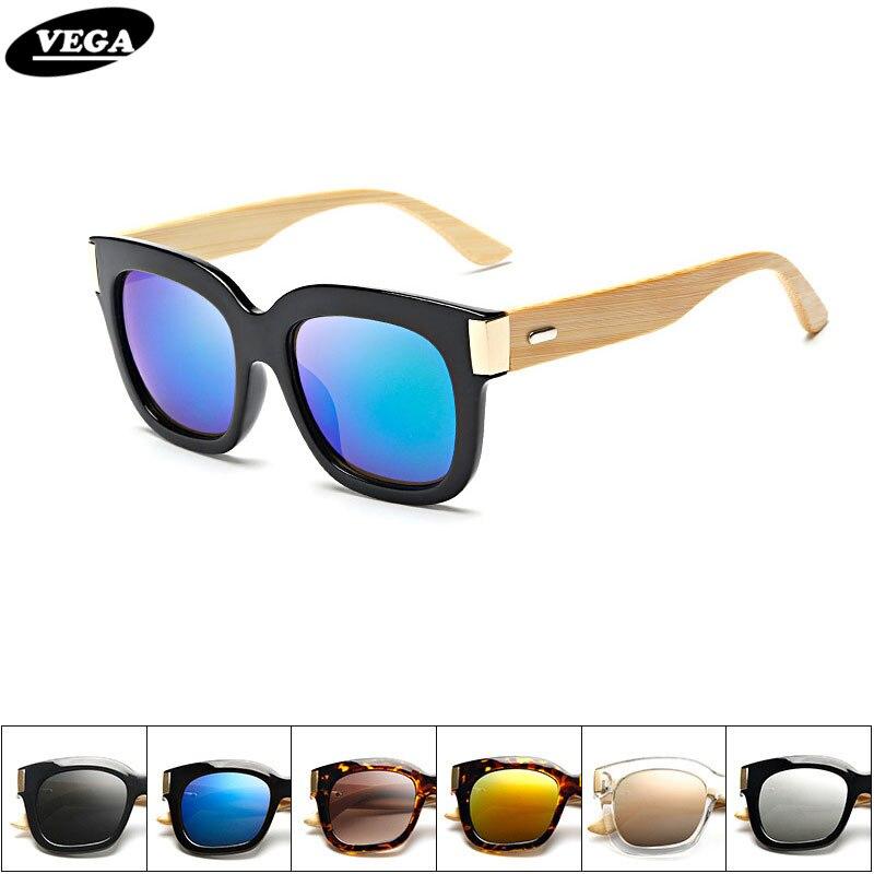 700225c50af9f9 VEGA À La Mode Tendance Bambou lunettes de Soleil Femmes Hommes HD Vision  Lunettes En Bois Pour lager Visage Bambou Lunettes 7 Couleurs 1515