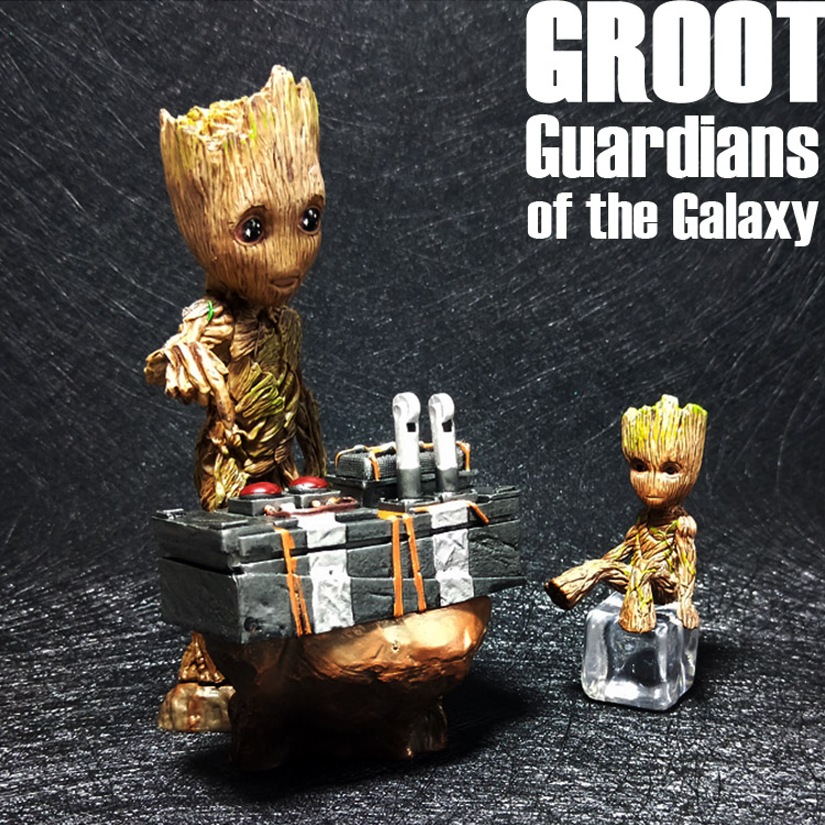 Groot Radio Movie Tree Man Baby Action Figure Hero S Model Guardians of The Galaxy Model Toy Car Decoration Gifts for Kid