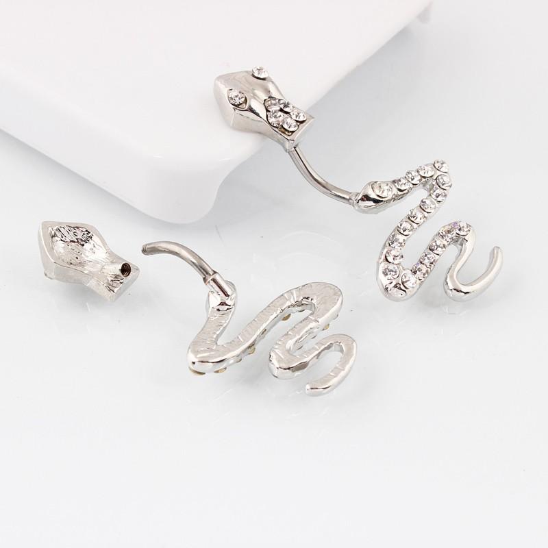 HTB1TSH7MXXXXXanaXXXq6xXFXXXO Sterling Silver Belly Button Crystal Encrusted Serpent Ring For Women