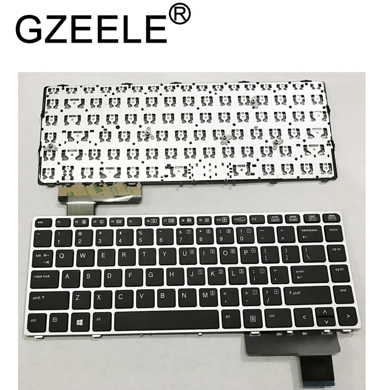 GZEELE English Laptop keyboard for HP EliteBook Folio 9470M 9470 9480 9480M 702843 001 US Replace Keyboard Silver-in Replacement Keyboards from Computer & Office