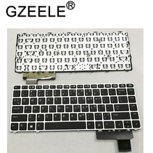 GZEELE English Laptop keyboard for HP EliteBook Folio 9470M 9470 9480 9480M 702843 001 US Replace Keyboard Silver