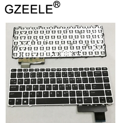 GZEELE English Laptop keyboard for HP EliteBook Folio 9470M 9470 9480 9480M 702843-001 US Replace Keyboard Silver