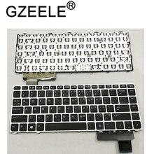 GZEELE 영어 노트북 키보드 HP EliteBook Folio 9470M 9470 9480 9480M 702843 001 US 키보드 실버 교체