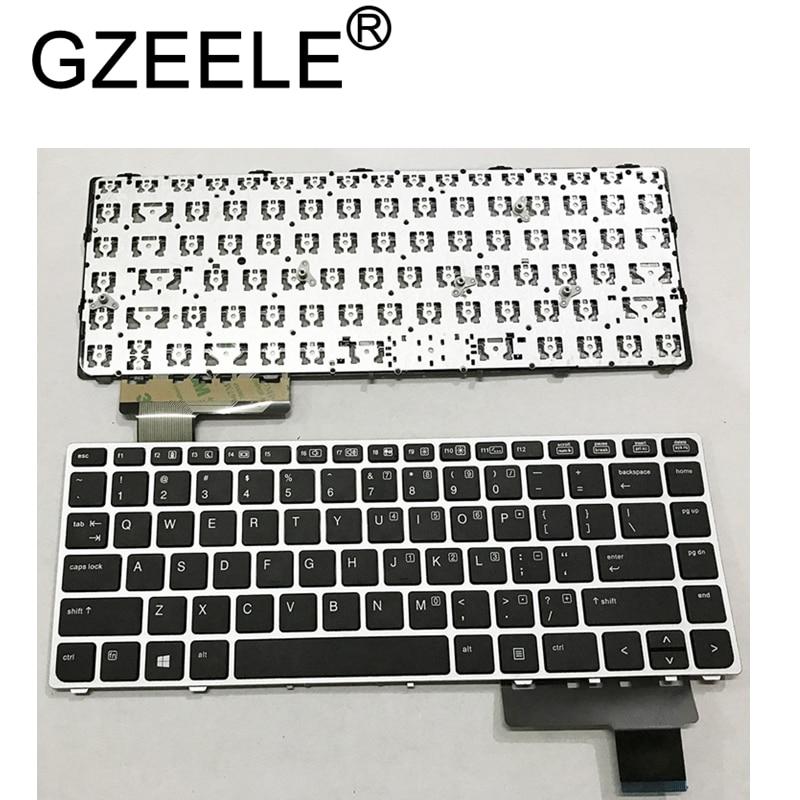 Russian Laptop Keyboard For HP EliteBook Folio 9470M 9470 9480 9480M 702843-001 RU Replace Keyboard Silver