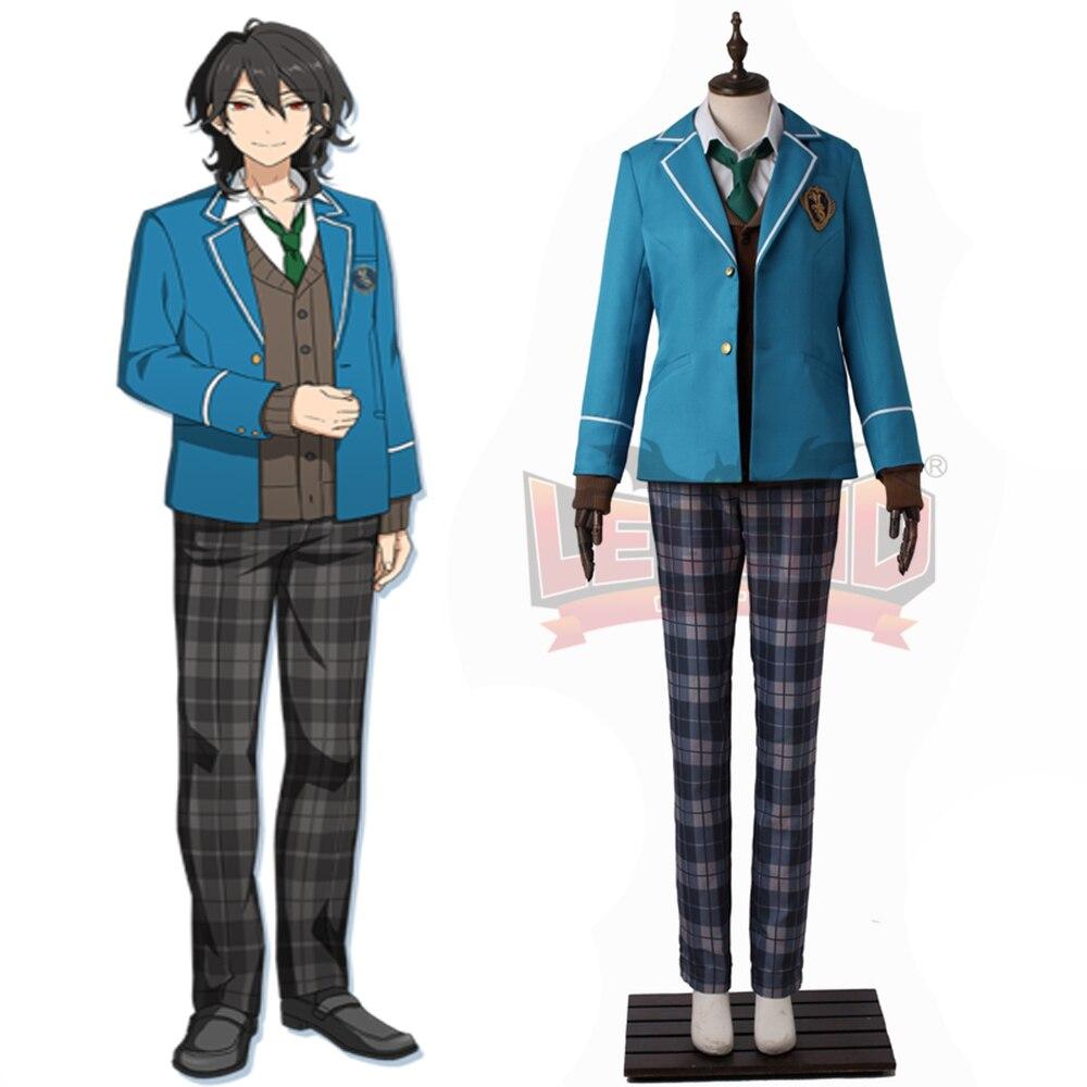 Ансамбль звезд Косплэй sakuma Rei Косплэй костюм все размеры изготовление под заказ синий форма