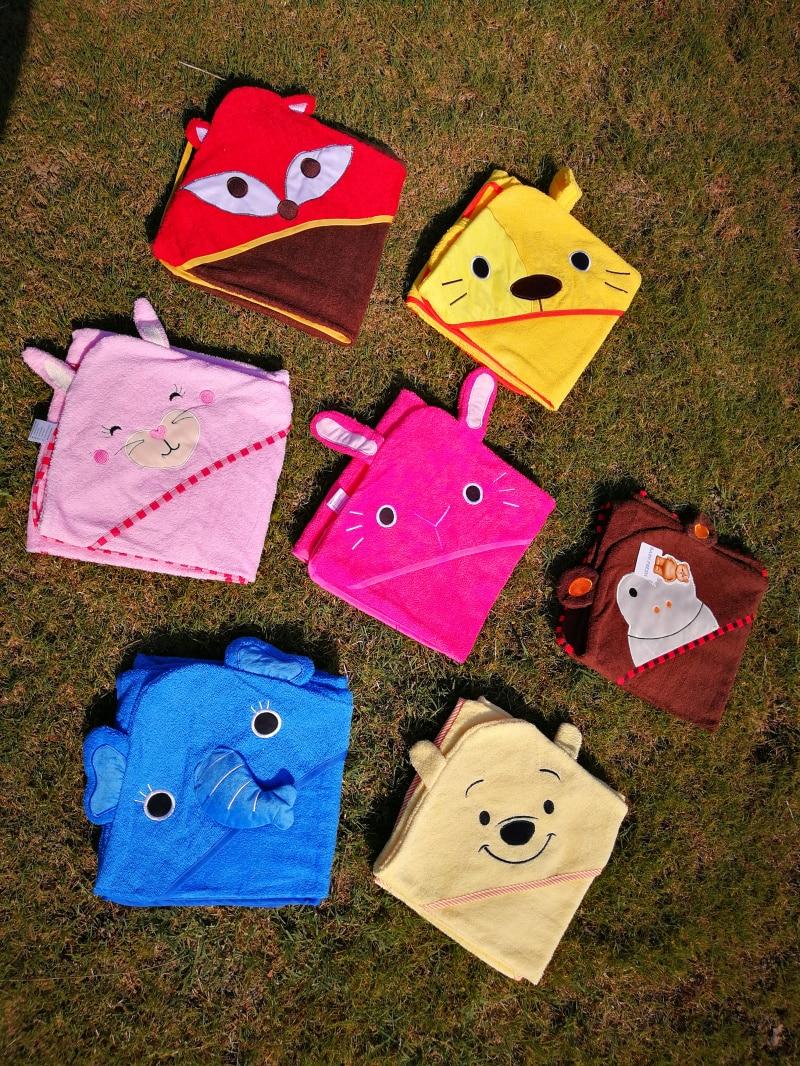Детское банное полотенце с квадратным капюшоном с изображением совы и лисы/пляжные полотенца для детей