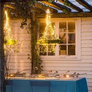 Image 2 - 1 セット/ロットクリスマスツリートッパー飾る Babysbreath ランプストリング木籐ライト銅線ランプ用パーティー結婚式 Dec