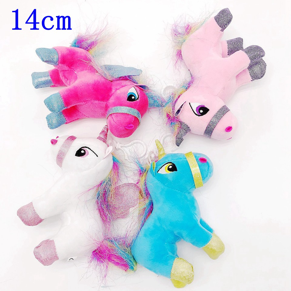 14cm Cute Unicorn Plush Toy Soft Stuffed Toys Simulation Animals Kawaii Unicornio Bedroom Decor Appease Toys for Children Gift