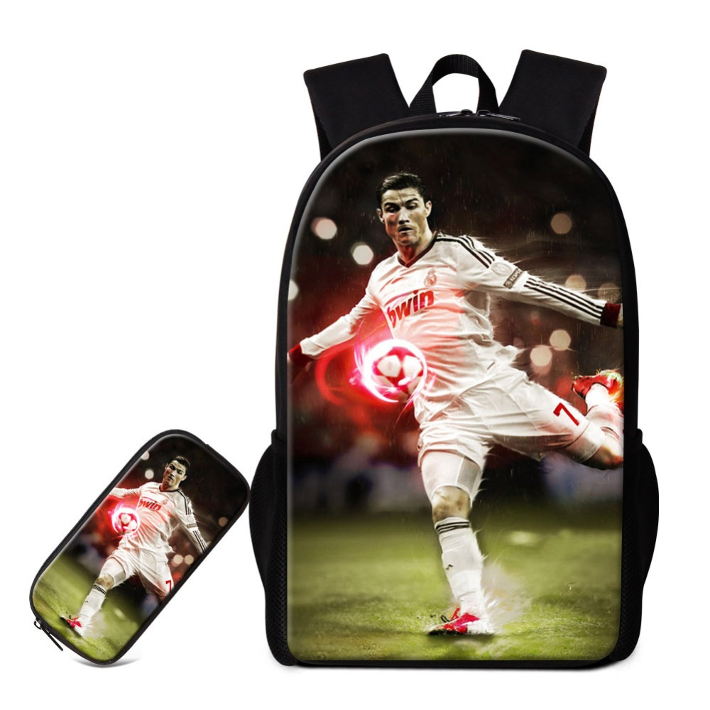 Dispalang 2 pièces/ensemble sacs d'école avec pochette pour crayons ballons étoiles impression sur sac à dos sac à dos frais personnalisé pour les adolescents