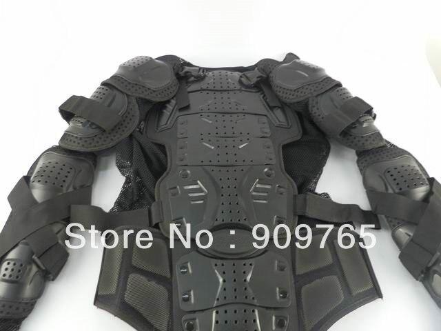 1 pcs noir adulte armure corporelle veste moto garde poitrine protecteur moto accessoires pièces - 3