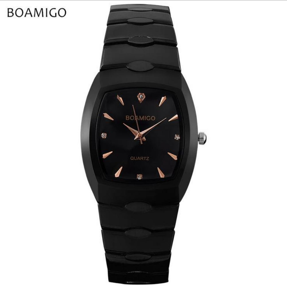 BOAMIGO Brand Men Watch Montre Waterproof Stainless Steel Quartz Watches Men's saat erkek kol saati horloges mannen reloj hombre watch men led digital waterproof wristwatch casual man sport watches 2017 new weide famous brand saat erkekler horloges mannen