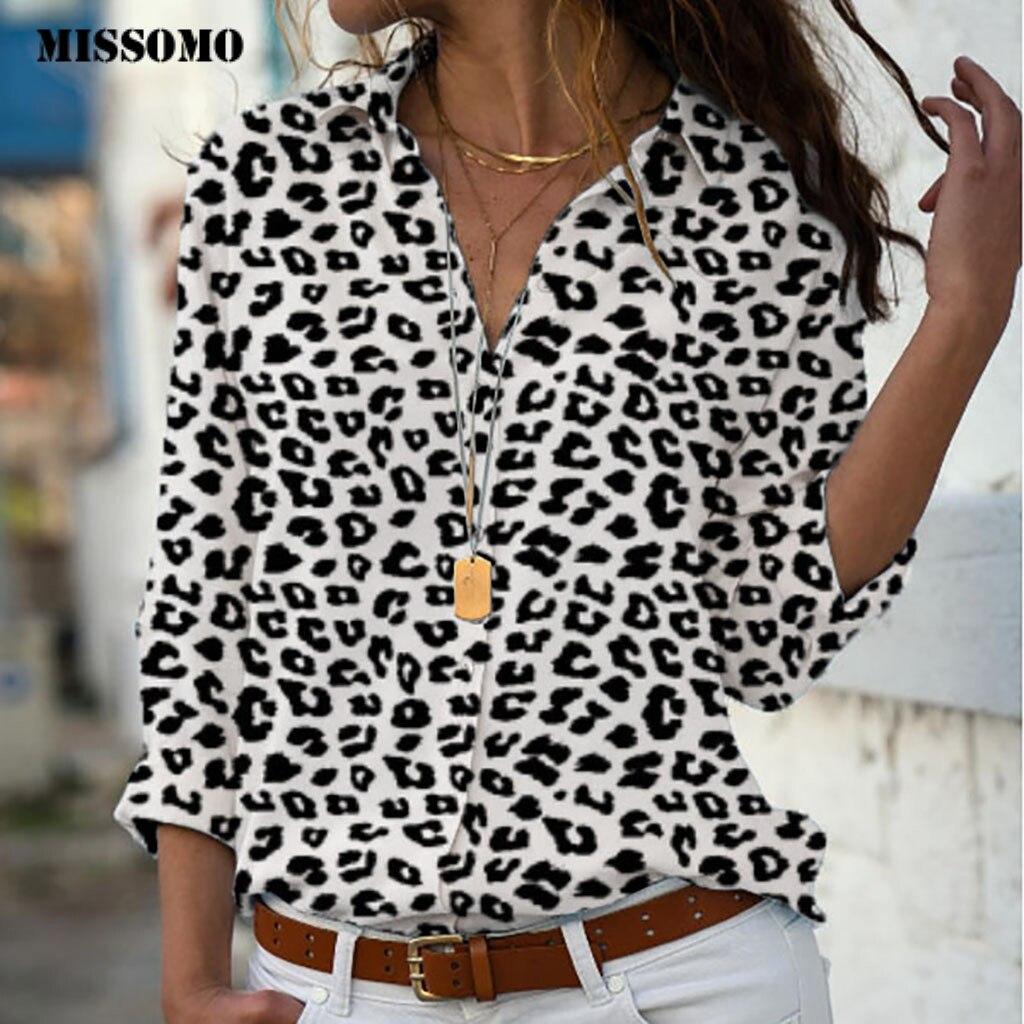 MISSOMO 5xl women   t     shirt   Plus Size Loose Leopard Print V-neck Button   shirt   Pullover Tops   Shirt   girls clothes tee   shirt   femme