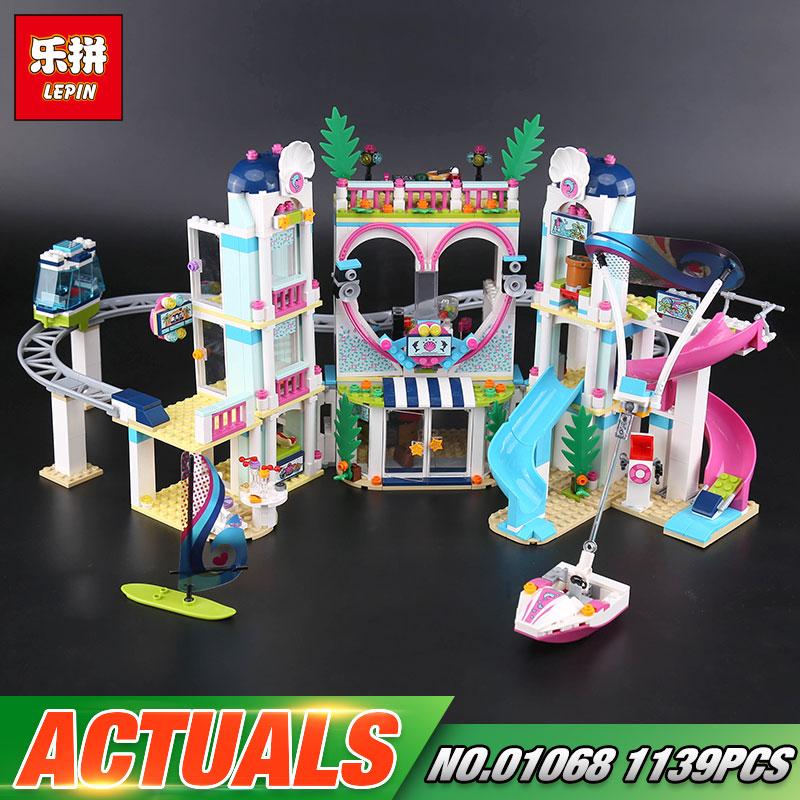 Lepin 01068 Girls Toys The 41347 Heartlake City Resort Set Building Blocks Bricks New Kids Toys Model As Girls Birthday Gifts
