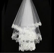 Новая свадебная вуаль принцессы с блестками романтическая белая/слоновая