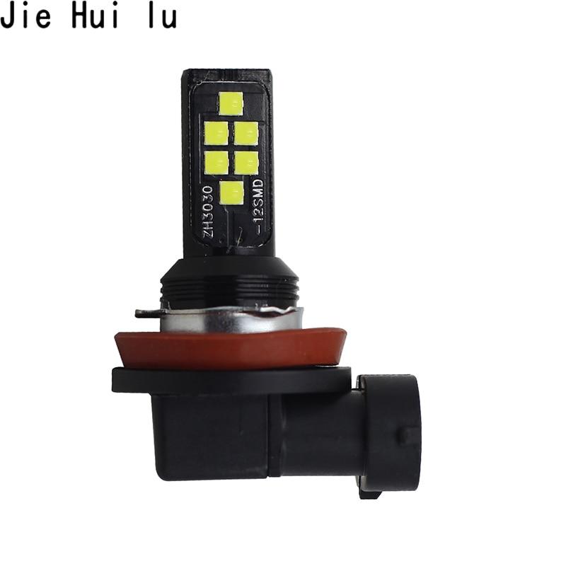 High Quality Car H3 Led H11 1156 Ba15s 9005 3030 Smd 12 Led Bulb White Fog Light Daytime Running Lights Cob
