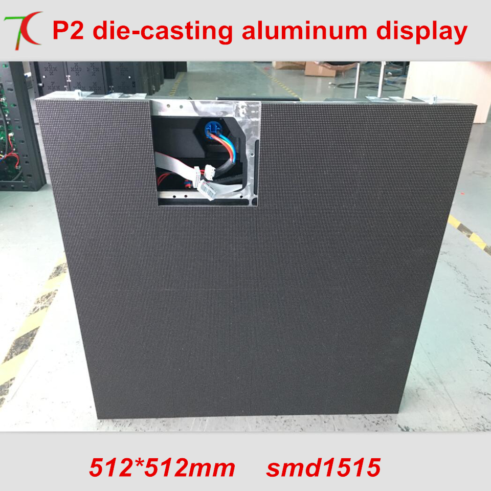 512*512mm P2 Die-casting Aluminum Cabinet Display,32scan