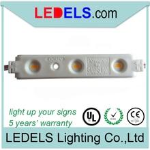 400pcs/lot,5 years warranty 1.2w 12v 120LM 3leds 5630 samsung led lights module for channel letters,led sign light for channel