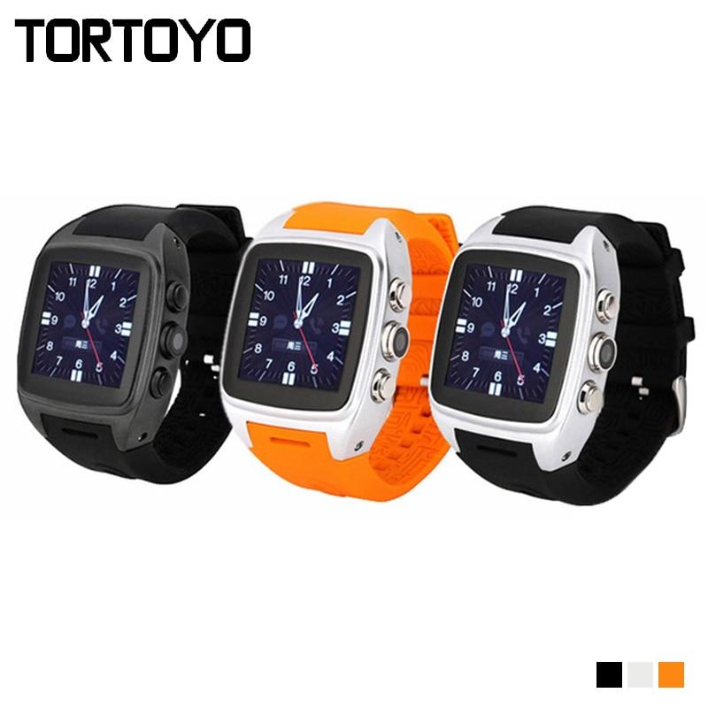 TORTOYO X01 Smart Watch Android 5.1 1.54 inch MTK6572 Dual Core 512MB+4GB 3G SIM WIFI GPS Gravity Sensor Pedometer PK DZ09 X01S smart baby watch q60s детские часы с gps голубые
