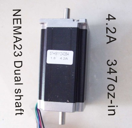 цена на 2pcs/lot Nema 23 double shaft 3N. M (417 oz-in) body length 112 mm CE ROHS NEMA23 stepper motor with cnc stepper motor