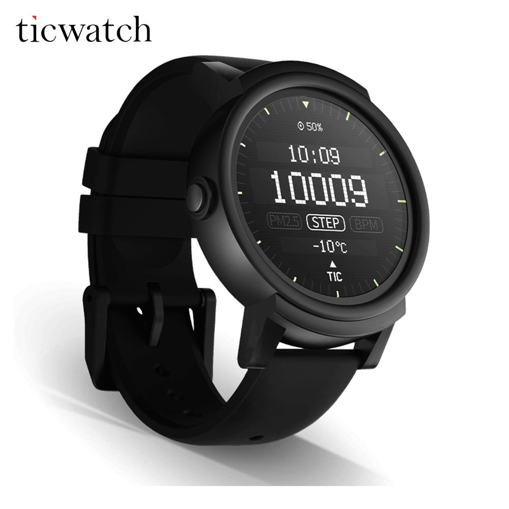 Galleria fotografica Originale Ticwatch E <font><b>Smartwatch</b></font> Android Usura 2.0 Bluetooth 4.1 MTK2601 Dual Core per iOS/Android IP67 Acqua a prova di Polvere resistente