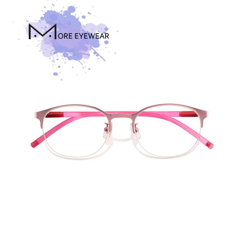 New Fashion Titanium Women Glasses Female Prescription Glasses With Optical Lens Round Frame Eyeglasses Pink Frame