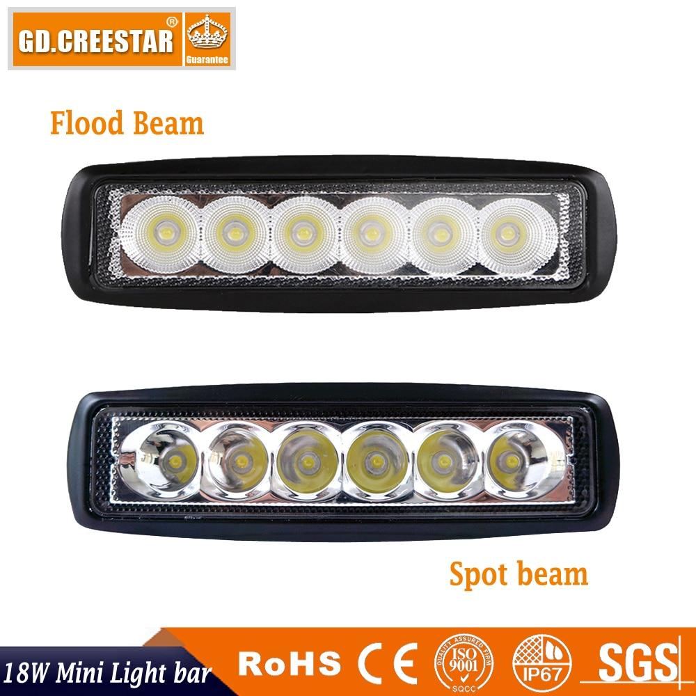 18Watts 6inch Flood Spot LED Աշխատանքային թեթև - Ավտոմեքենայի լույսեր - Լուսանկար 5