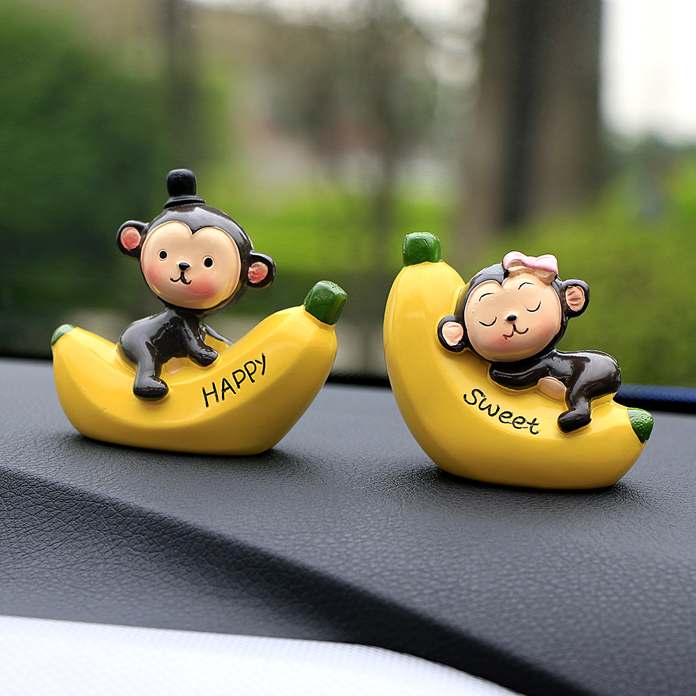 Interior Accessories Interior Home Gift Love Valentines Day Car Ornament Cartoon Birthday Resin Craft Office Cute Monkey Dashboard Decoration Ornaments