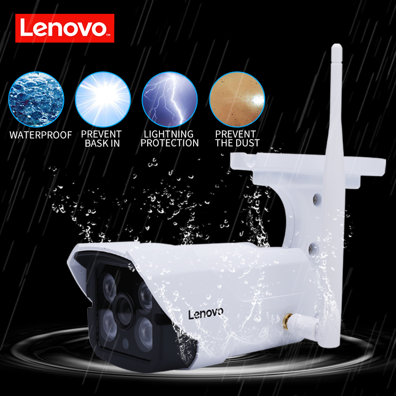 Image 4 - LENOVO IP Camera wifi 1080p IR Camera cctv outdoor ip surveillance camera night Waterproof hd Built in 64G Memory Card Camera-in Surveillance Cameras from Security & Protection