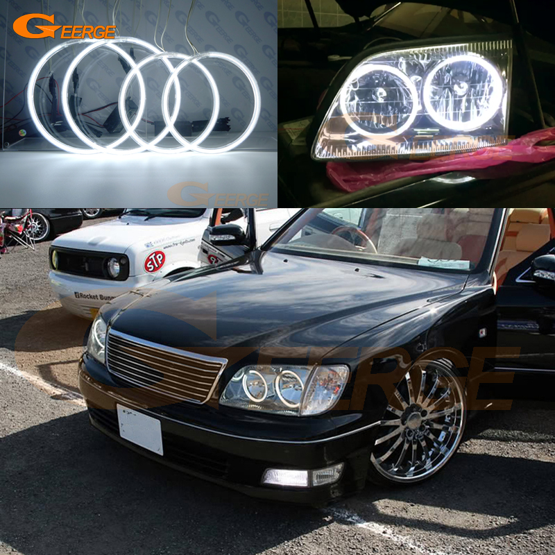 For lexus LS400 1998 1999 2000 Excellent angel eyes Ultra bright illumination CCFL Angel Eyes kit Halo Ring