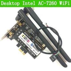 PCi Express 7260AC 2.4G / 5G Dual Band 7260HMW 867 Mbps Wireless PCI-E Wi-Fi Bluetooth 4.0 7260 WIFI CARD Desktop AC-7260 WLAN