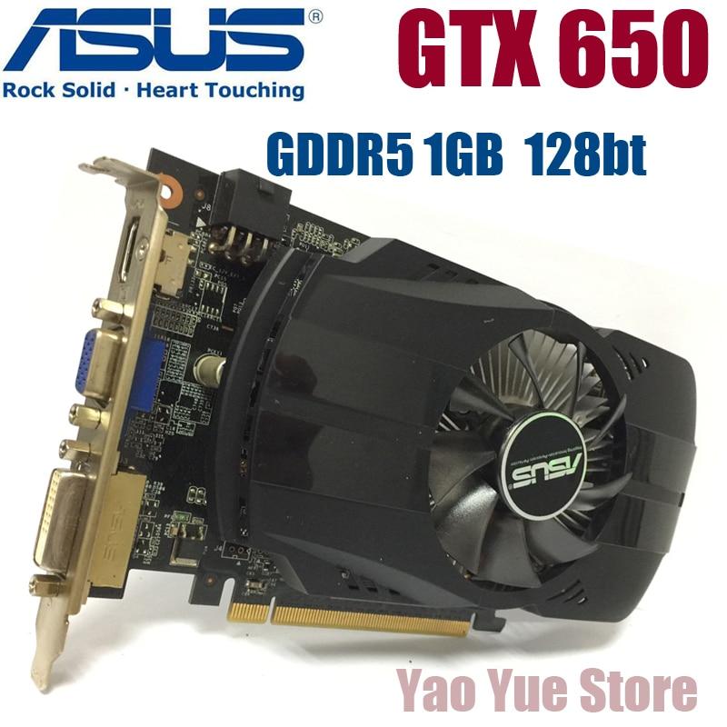 ASUS GTX-650-FMLII-1GB GTX650 1 GB GTX 650 1g D5 DDR5 128 bit PC escritorio tarjetas gráficas PCI Express 3.0 tarjetas gráficas de computadora