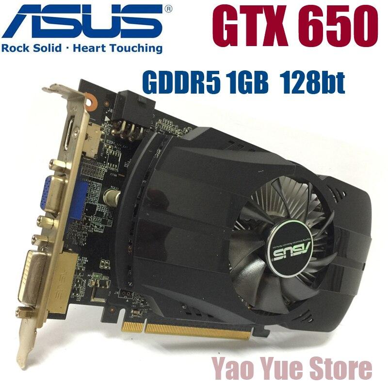 Asus GTX-650-FMLII-1GB GTX650 1 GB GTX 650 1g D5 DDR5 128 poco PC de escritorio de tarjetas gráficas PCI Express 3,0 gráficos de computadora tarjetas
