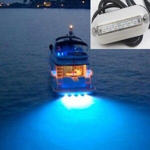 Image 1 - 12 V Marine Boot Yacht Unterwasser Licht 6LED Schwimmen Pool Teich Landschaft Lampe Rot/Blau/Grün